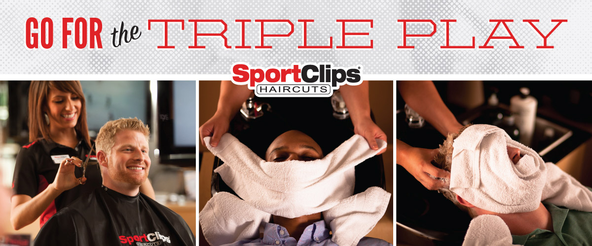 The Sport Clips Haircuts of City Centre of Avon Triple Play